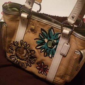Coach Bumble Bee & Flowers Tote Bag